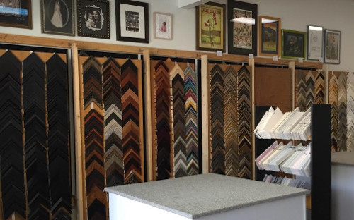 Many framing options to choose from for your artwork when you visit The Frugal Frame Shop
