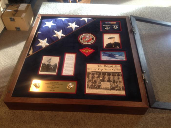 WWII Memorial Shadowbox