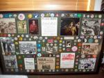 The largest collection of buttons we have ever framed.